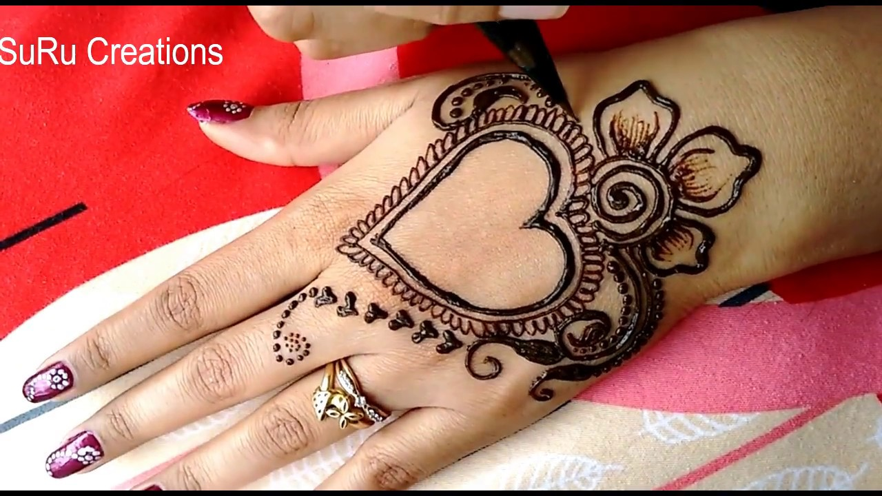 mehndi designs for hands beautiful heart design mehndi design rh youtube com heart henna designs step by step beautiful henna heart designs