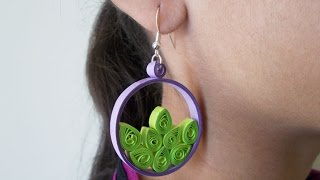 Quilled Earrings : Beautiful Paper Earrings with No Expense! | DIY Handmade Paper Jewelry