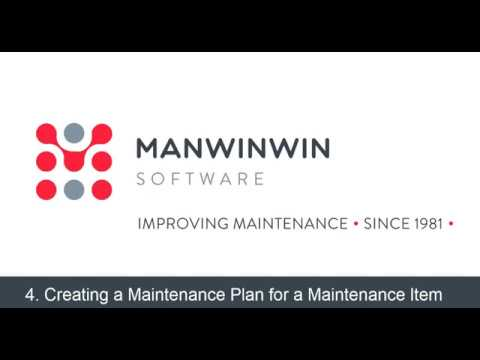 4. Creating a Maintenance Plan for a Maintenance Item (updated version)