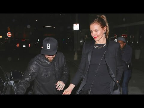 Newlyweds Cameron Diaz And Benji Madden Dine With Nicole Richie, Joel Madden And Jessica Alba