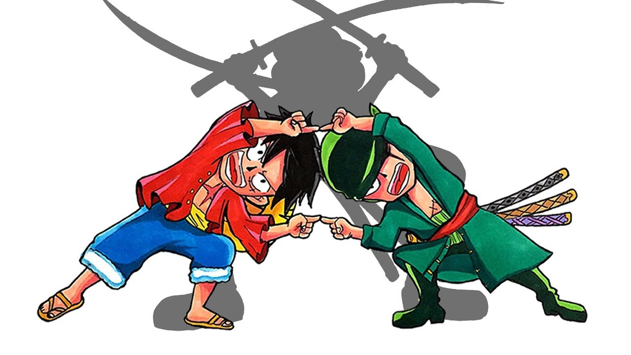 Anime Character Fusion Drawing 1 One Piece Luffy And Zoro Fusion