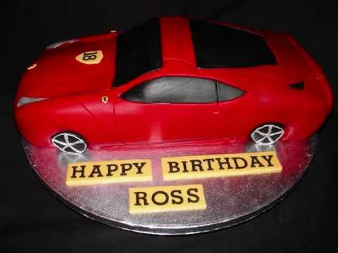 Ferrari Car Shape Fondant Cake Youtube