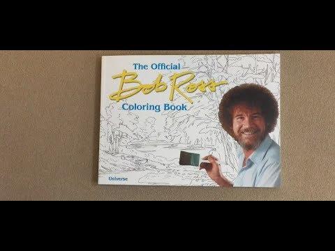 The Official Bob Ross Coloring Book Flip Through Youtube