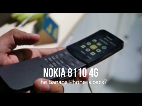 Nokia 8110 4G India Hands-on, Features, Camera - The Banana Phone is back? MWC 2018
