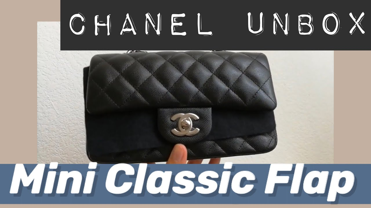 5fd9aa715f0b95 Unboxing Chanel Mini Rectangular in Silver Metal & Caviar Leather 香奈儿 迷你 开箱
