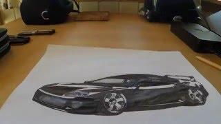 iDraw: How to draw a Toyota Supra