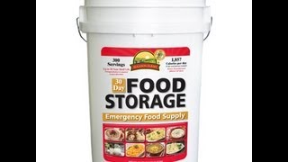 30 Day Food Storage Pail Augason Farms Review