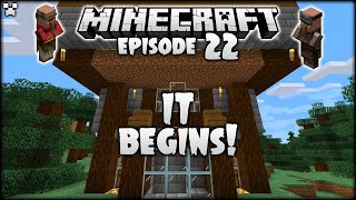 I FINALLY BEGIN MY HUGE MINECRAFT HUB PROJECT! | Python Plays Minecraft Survival [Episode 22]