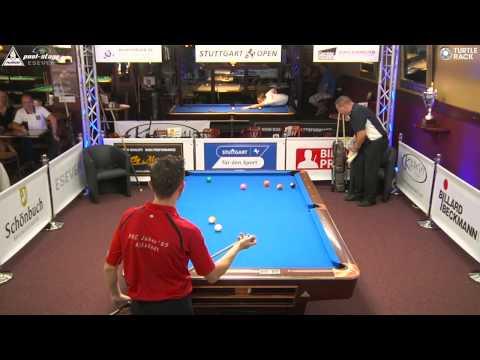 Stuttgart Open 2015, No. 09, Sebastian Staab vs. Markus Kamuf, 10-Ball, Pool-Billard