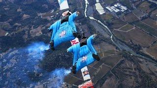 Wingsuit Slalom Racing 8,000 Feet Above the Ground