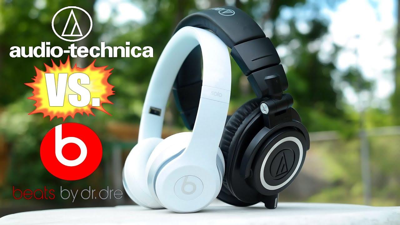 Beats by Dre Solo 2 vs. Audio-Technica ATH-M50x Hands-On Comparison on joseph audio, aoa audio, rainbow audio, cable audio, aurora audio,