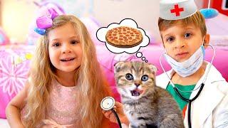Diana Aprende como Cuidar a un Gatito