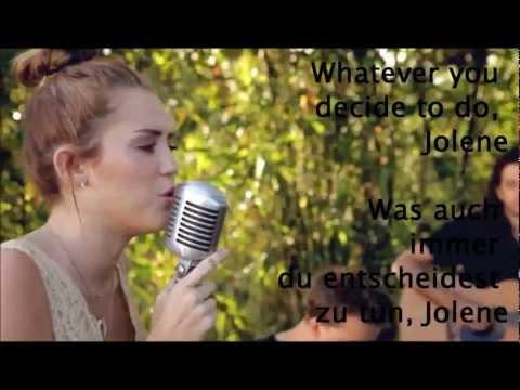 Miley Cyrus - Jolene (Lyrics + Deutsche Übersetzung)