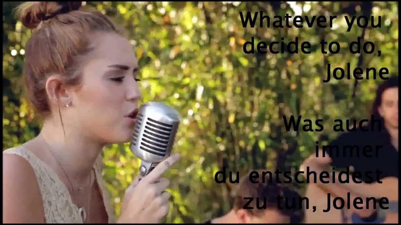 Miley Cyrus - Jolene (... Miley Cyrus Jolene