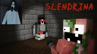 Monster School : SCARY SLENDRINA THE CELLAR CHALLENGE - Minecraft Animation