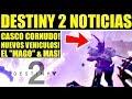 Destiny 2 - EL MAGO! CASCO CORNUDO! Tease de Nuevos Vehiculos! REVELACIÓN PRIMER DLC!