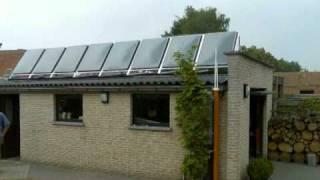 Dutchboiler zonnecollector (zonneboiler) met zonvolgsysteem
