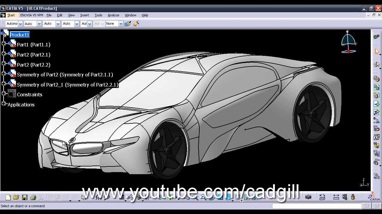 Bmw I8 Efficient Vision Dynamics In Catia Youtube