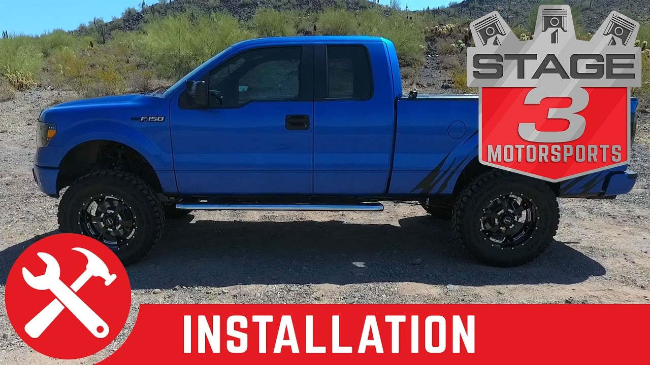 2011 2013 F 150 4wd Readylift 7 Suspension Lift Kit With Rear Shocks Install