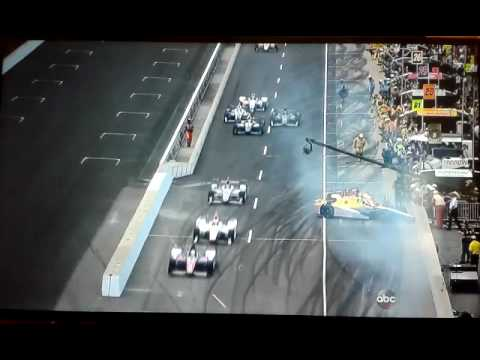 2016 Indy 500 Townsend Bell Ryan Hunter-Reay Pit Road CRASH