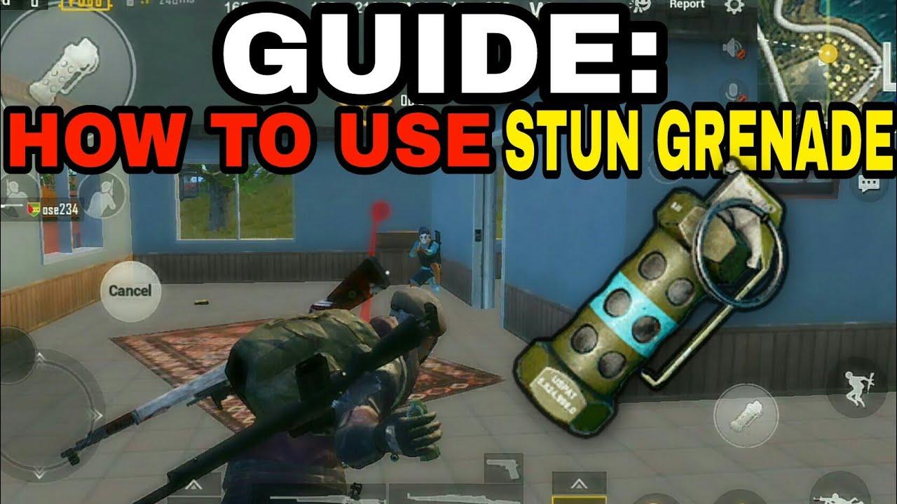 How To Use Stun Grenade Properly Pubg Mobile Stun Grenade Guide