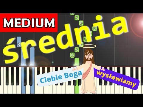 🎹 Ciebie Boga wysławiamy - Piano Tutorial (średnia wersja) 🎹