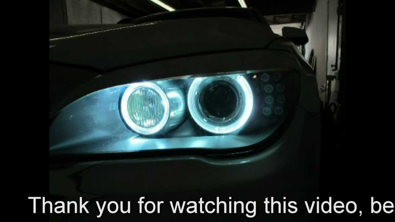 Led Bulb Watt Bmw F01/f02 7 Series Led Hid Angel Eyes! Super Bright
