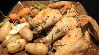 Rosemary & Thyme Roasted Cornish Game Hens