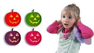 Baby playing hide and seek with giant pumpkin. Video for Kids and Baby Song