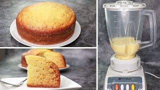 Sponge Cake In Blender  Vanilla Sponge Cake Recipe Without Oven  Yummy