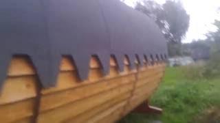 баня бочка своими руками ч.7(крыша)