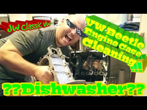 VW BUG | VW Engine Case Cleaning With Dishwasher | JW Classic VW