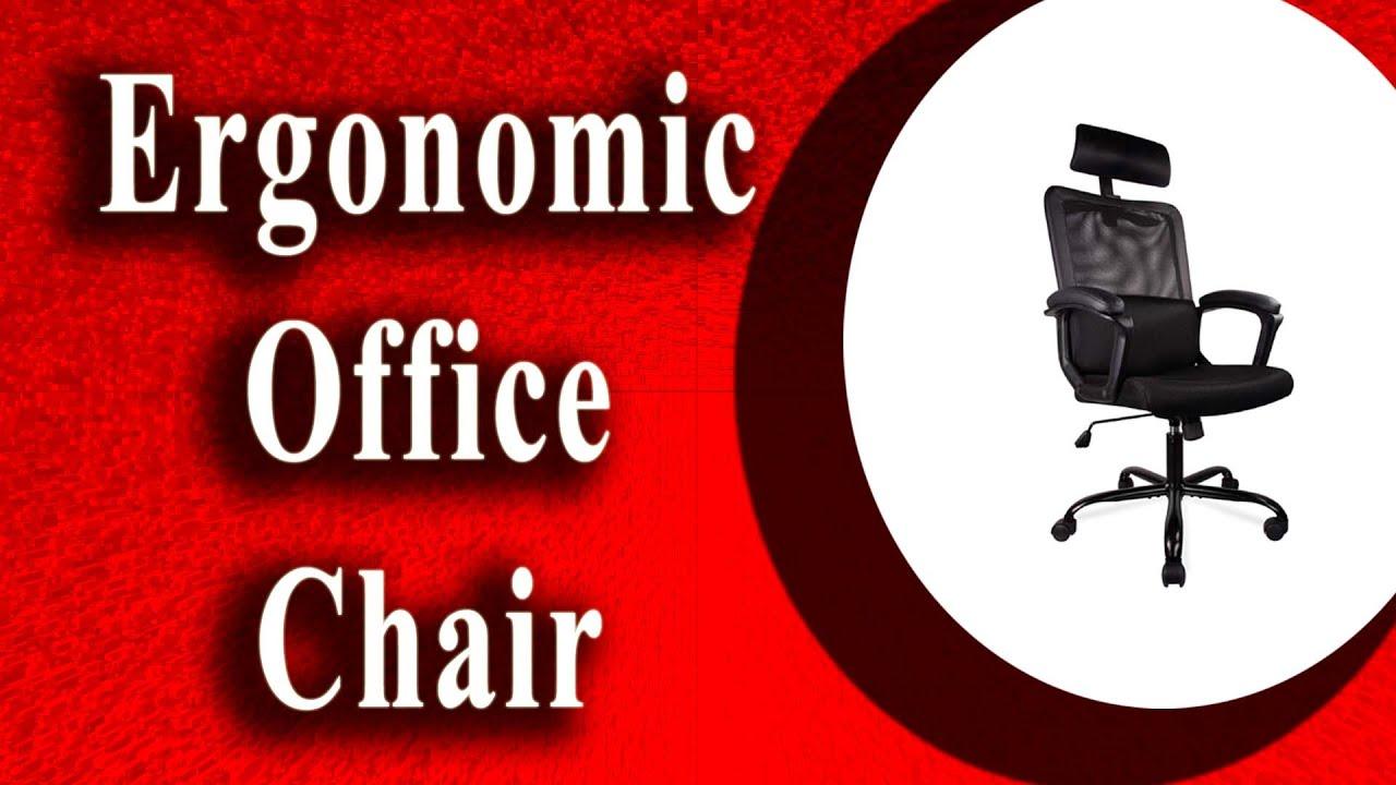 Ergonomic Office Chair High Back Armrest Adjustable Office
