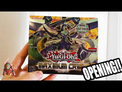 *YUGIOH* MAXIMUM CRISIS 1st EDITION BOOSTER BOX OPENING! C'MON TRUE DRACO!! MAY 2017 (TCG) Pt. 1