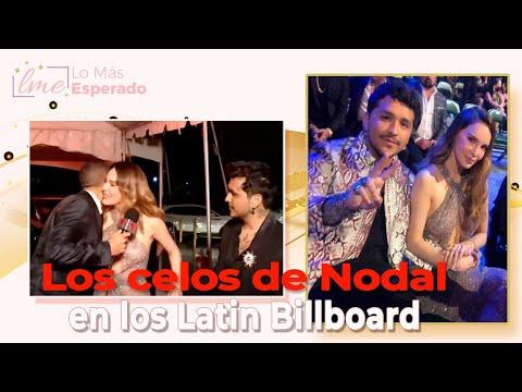 El saludo de un reportero a Belinda produce los celos de Christian Nodal en los Latin Billboard