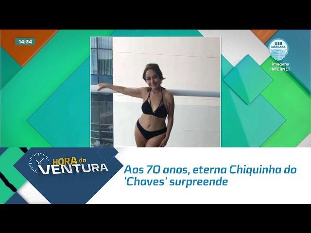 Aos 70 anos, eterna Chiquinha do 'Chaves' surpreende em foto de biquíni