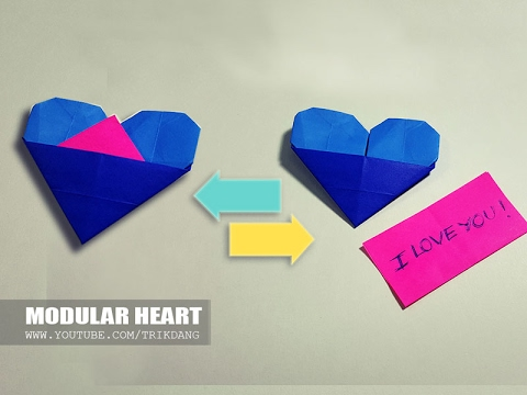 How To Make An Origami Heart With Secret Message Great For