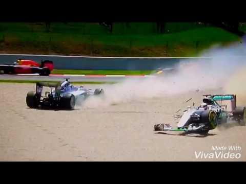 Inexplicable accidente: los Mercedes chocaron y tuvieron que abandonar