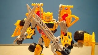 Construct Bots Bumblebee Transformers Triple Changer Class Toy Review