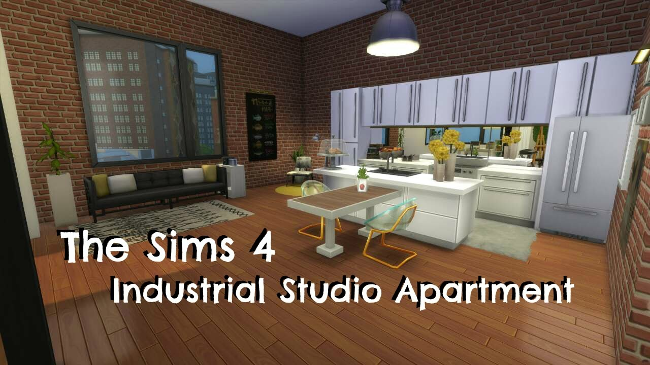 The Sims 4 | Industrial Studio Apartment Build | - YouTube