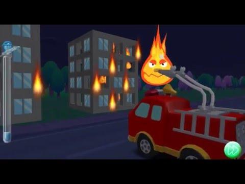 мультики про машинки Пожарная машина тушит пожар Бяка Флейм напал на Пинки Таун #3 #Мультфильм