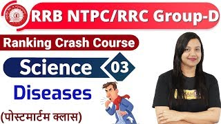 Class-03|RRB NTPC/RRC Group-D|| Ranking Crash Course || Science| By Amrita Maam ||Diseases