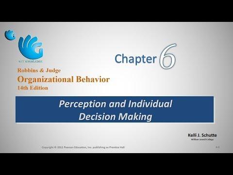 Perception And Decision Making Organizational Behavior