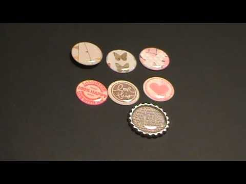 Homemade flair buttons