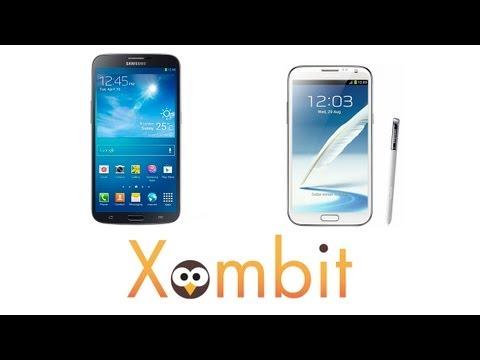 Comparativa del Samsung Galaxy Note II y el Samsung Galaxy Mega