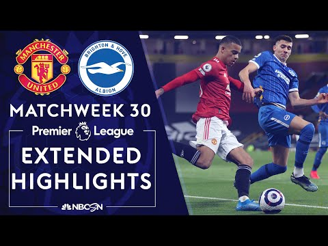 Manchester United v. Brighton | PREMIER LEAGUE HIGHLIGHTS | 4/4/2021 | NBC Sports