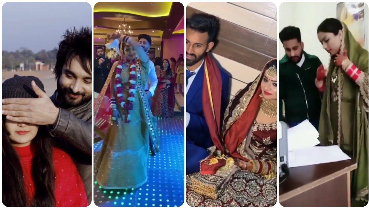 Beautiful ??? PUNJABI COUPLES NEW Popular VIDEOS??Punjabi Couple Wedding Bhangra With Dhol Dance //