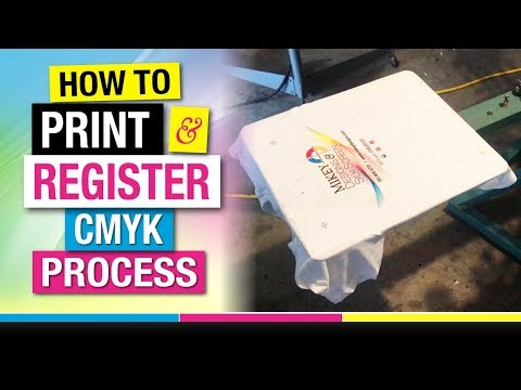 How to Register and Screen Print CMYK 4 Color Process on White T Shirts