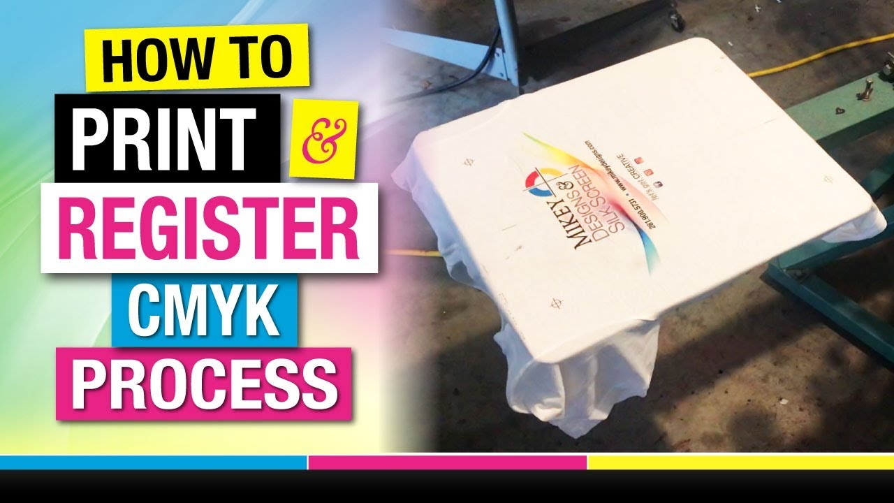 How To Register And Screen Print Cmyk 4 Color Process On White T