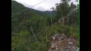 Perbaikan kabel sutet Papua via drone camera